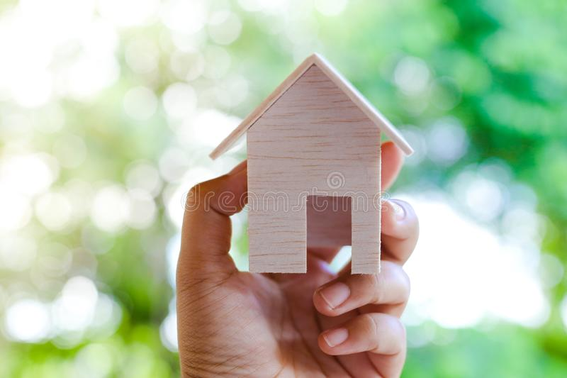 Small Wooden Toy House Isolated Stock Images - Download