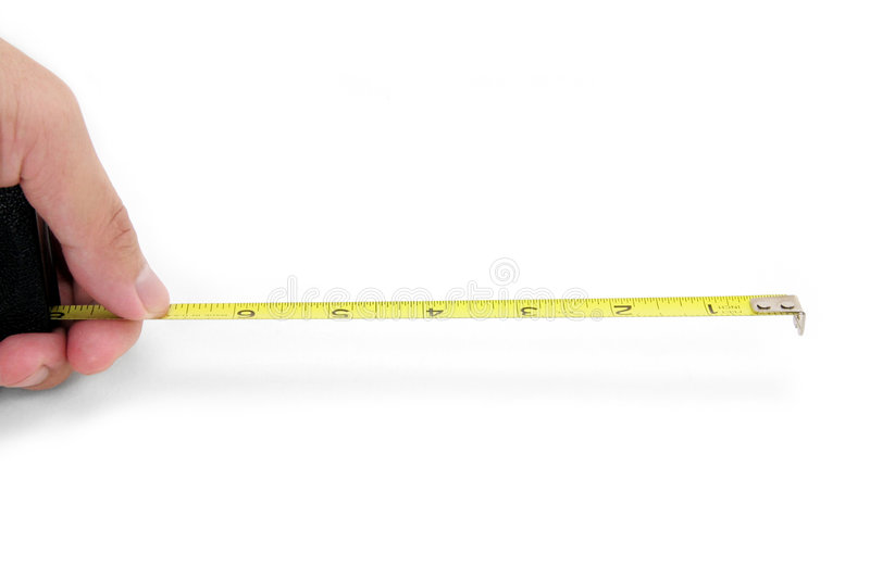 Download Hand Holding Yellow Measuring Tape Stock Photo - Image: 1414152