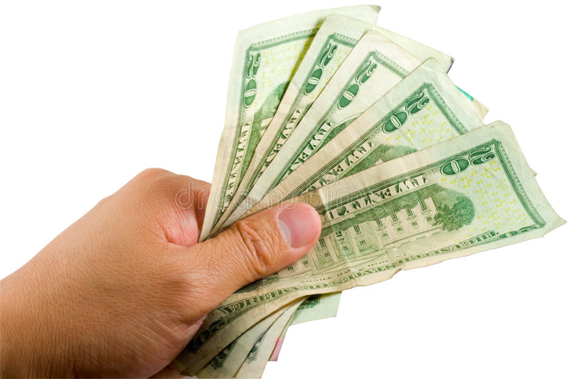 Hand Holdnig Money stock photo