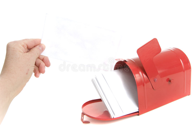 Hand Holds A Bill In The Mail Stock Photo