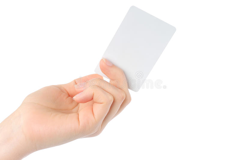 Download Hand holds charge card stock photo. Image of empty, file - 25479178