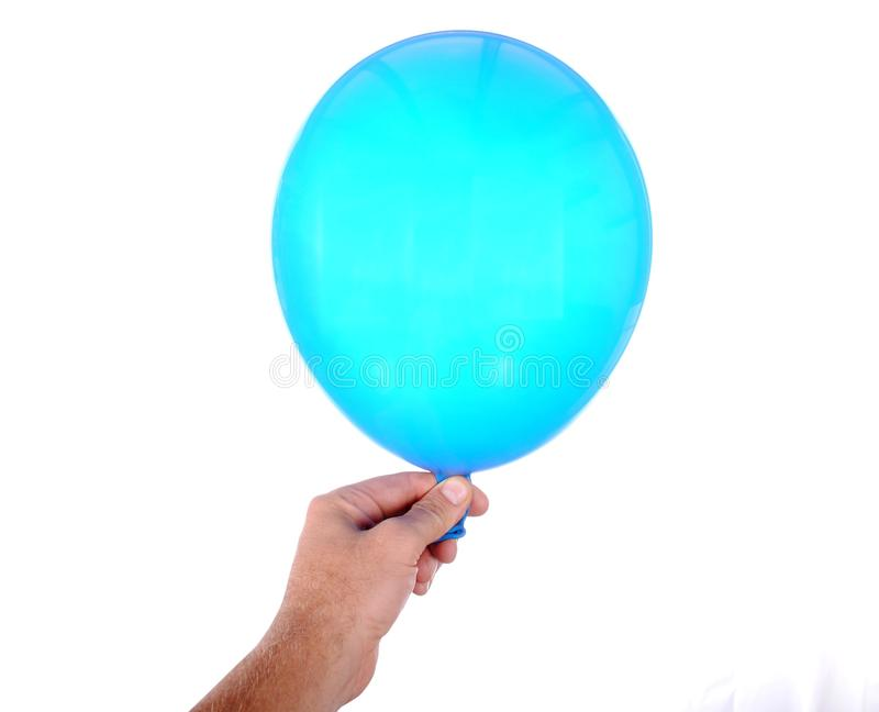 Download Hand Holds An Inflatable Balloon Stock Photo - Image: 26580862