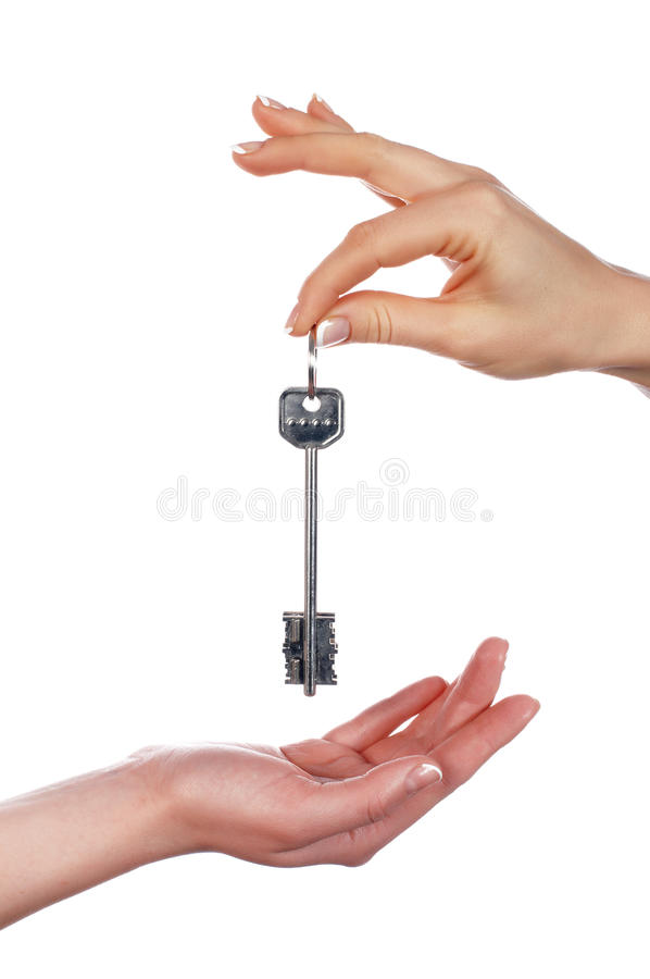 Download The Hand Holds A Key From The House Stock Image - Image: 12464985