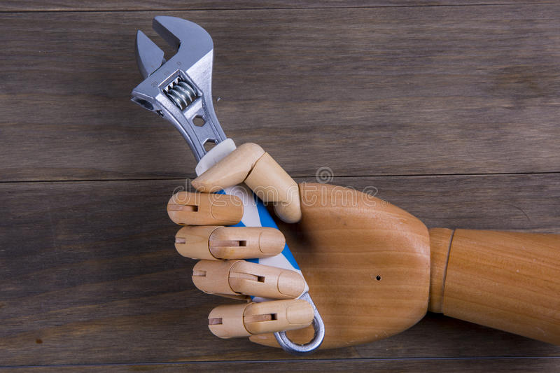 Hand holds a spinner royalty free stock photo