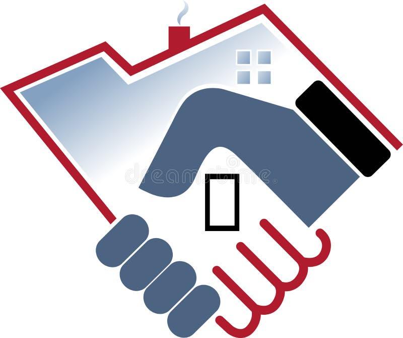Hand home stock illustration