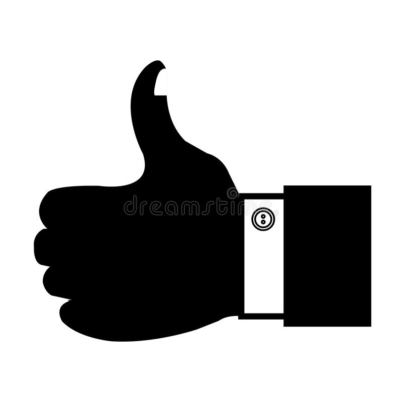 hand human like isolated icon royalty free illustration
