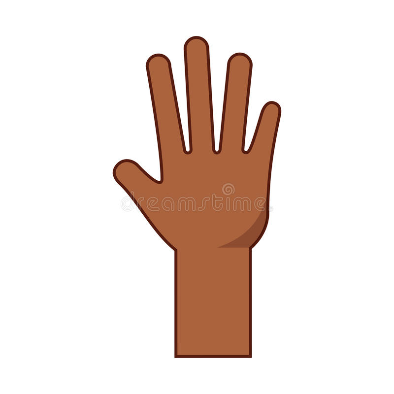 Hand human open icon stock illustration