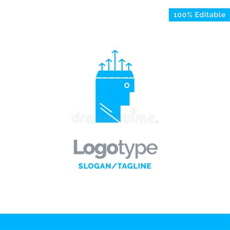 Hand, Hypnose, Gegevens, Psychologie Blauw Stevig Logo Template Plaats voor Tagline vector illustratie