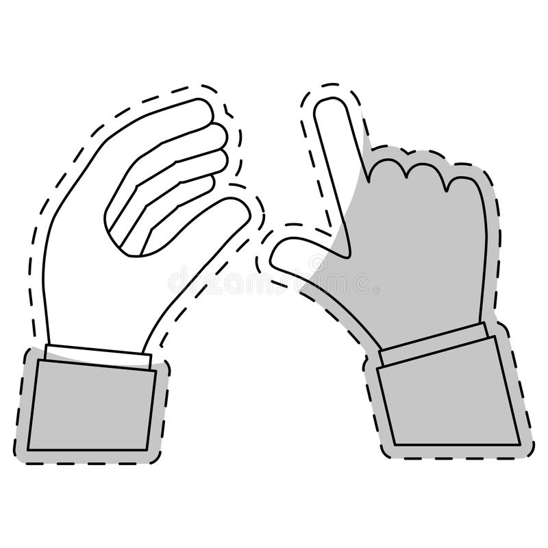 Hand icon image. Human hands over white background. illustration stock illustration