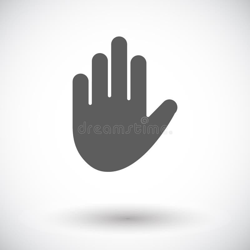 Hand icon. Hand. Single flat icon on white background. Vector illustration stock illustration