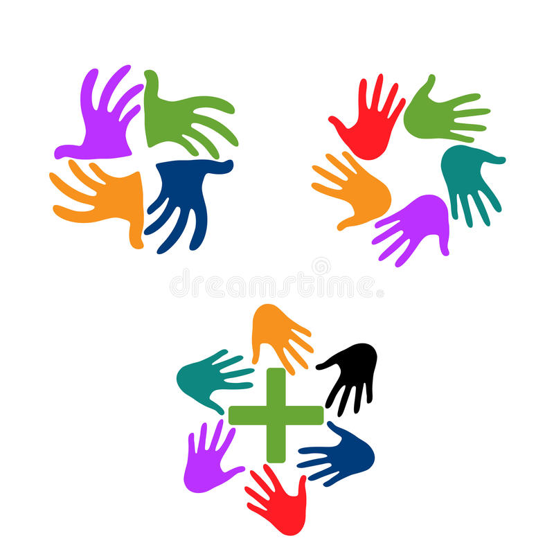 Hand icon, vector illustration. Flat design style royalty free stock photos