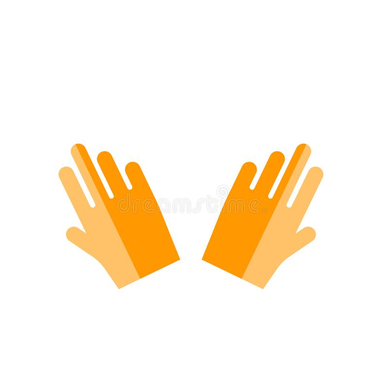 Hand icon vector sign and symbol isolated on white background. Hand icon vector isolated on white background for your web and mobile app design, Hand logo royalty free illustration