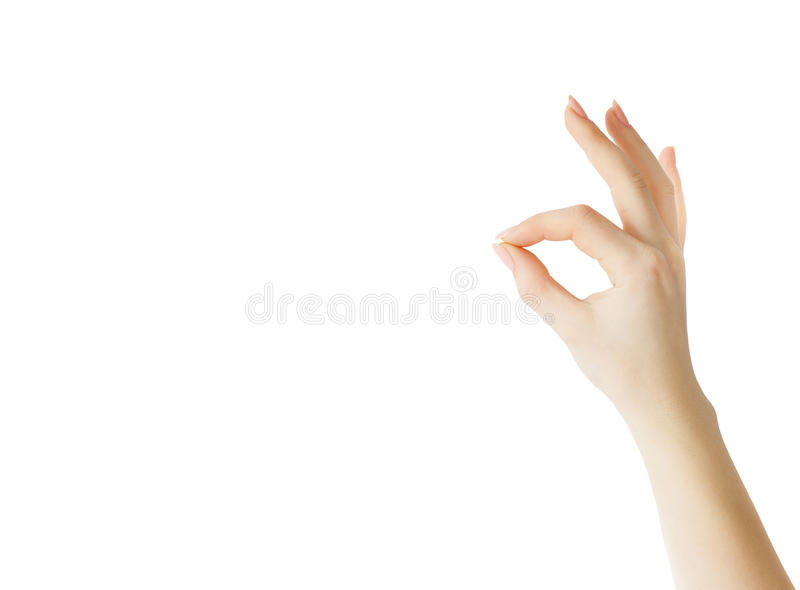 HAND INDICATING OK SIGN stock images