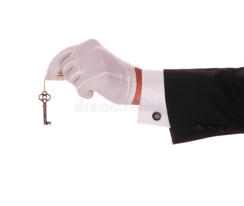 Download Hand with Key stock image. Image of tuxedo, concierge - 5025619