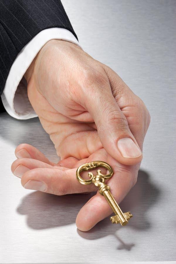 Hand Key Business Success royalty free stock photo