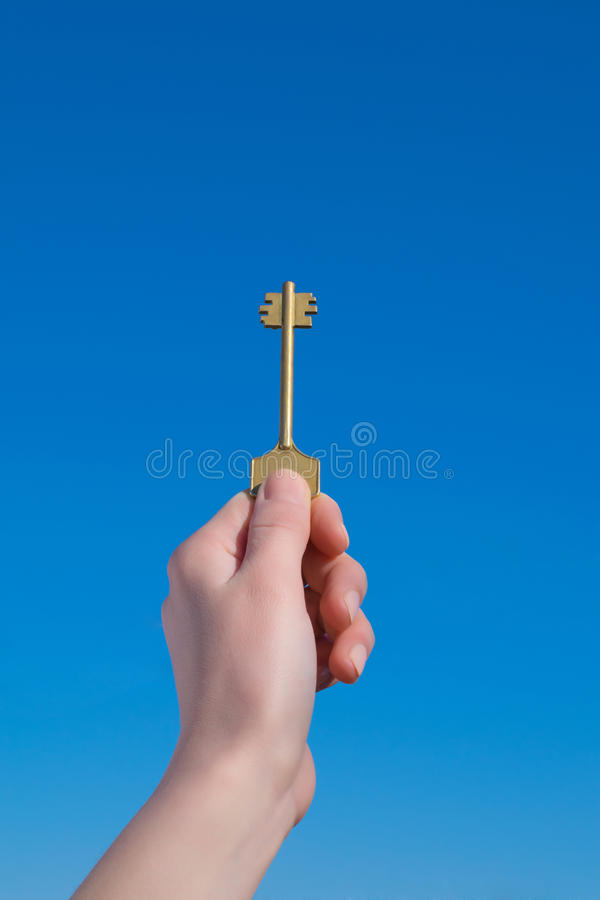 Hand with key. Foto shows hand with key royalty free stock photo