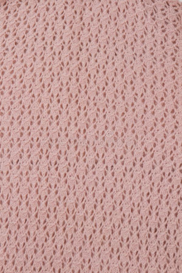 Hand knitted pattern, close up stock images