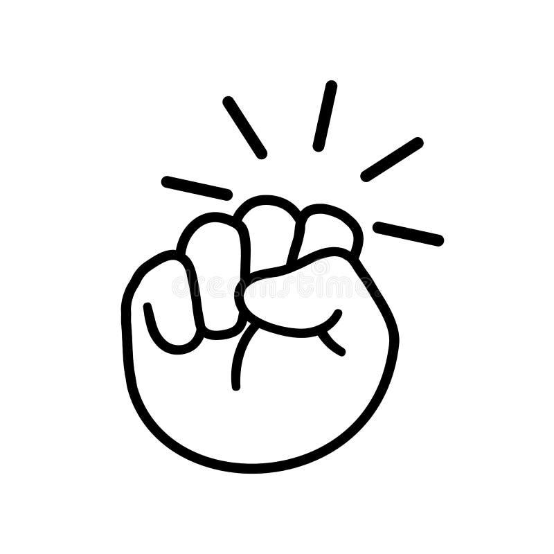 Hand knocking on door logo icon, fist knocking sign - vector stock illustration