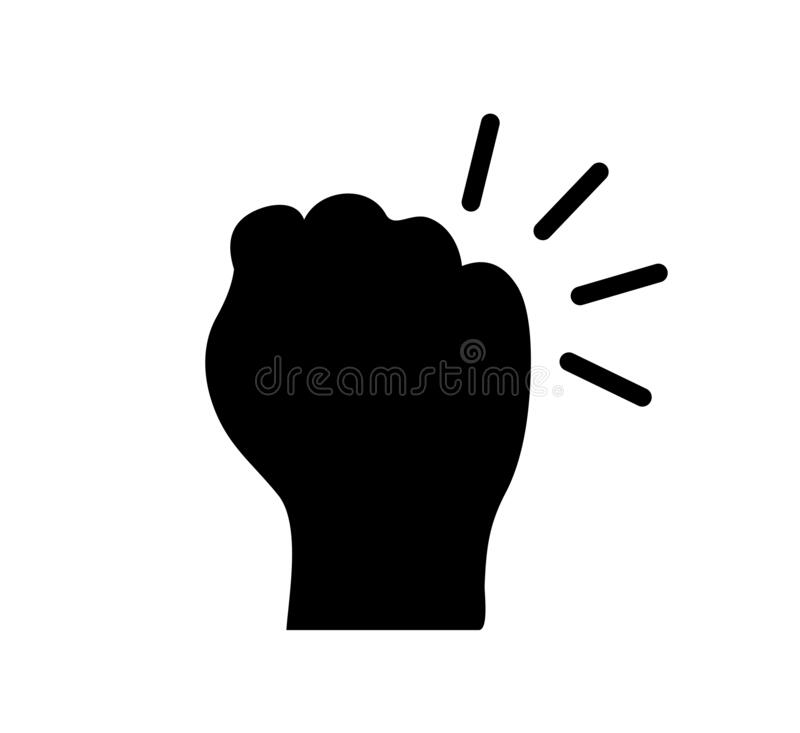 Free Hand Knocking On Door Logo Icon, Fist Knocking Sign - For Stock Vector Royalty Free Stock Image - 195510936