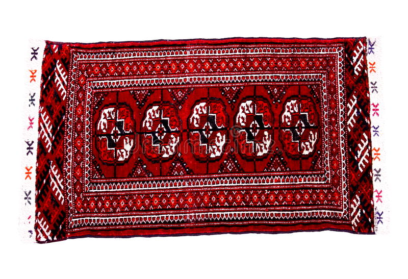 Download Hand Knoted Rug From Turkmenistan Stock Image - Image: 10666591