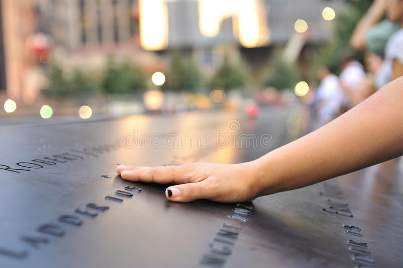 Download Hand Laid On September 11 Memorial Editorial Image - Image: 21157060