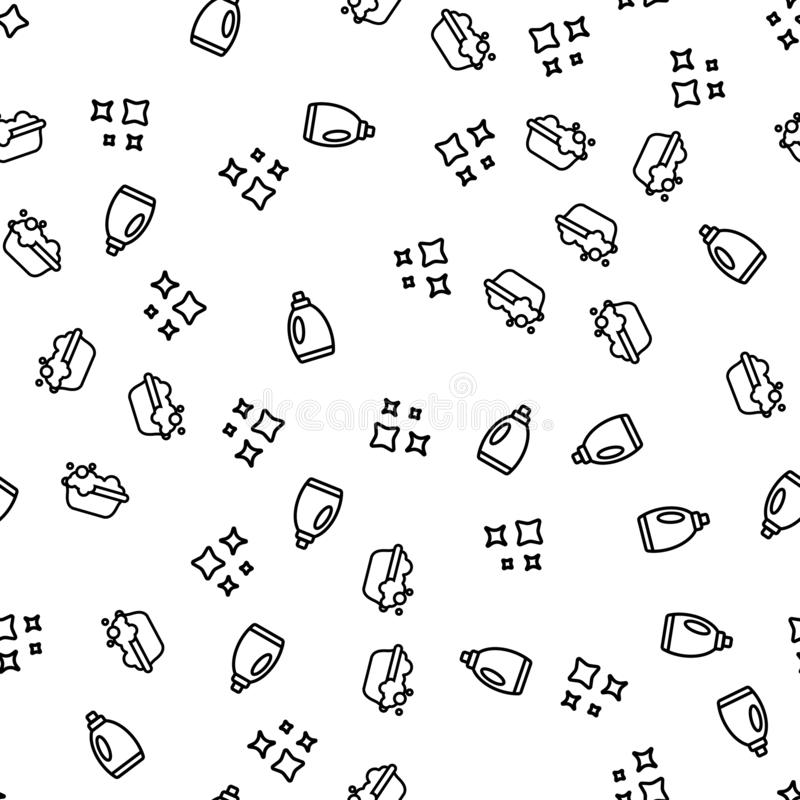 Hand Laundry Cleaning Seamless Pattern Vector vector illustration