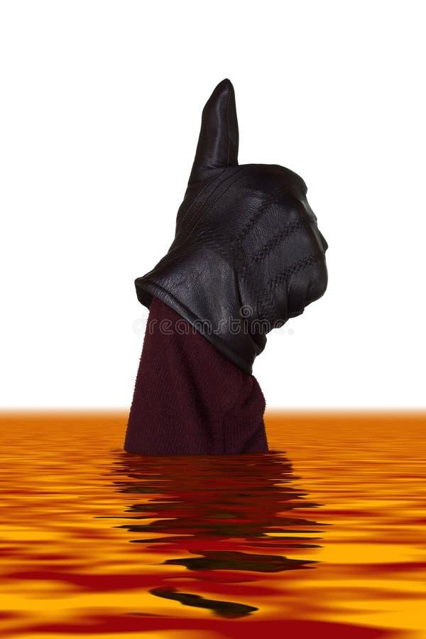 Hand in lava royalty free illustration