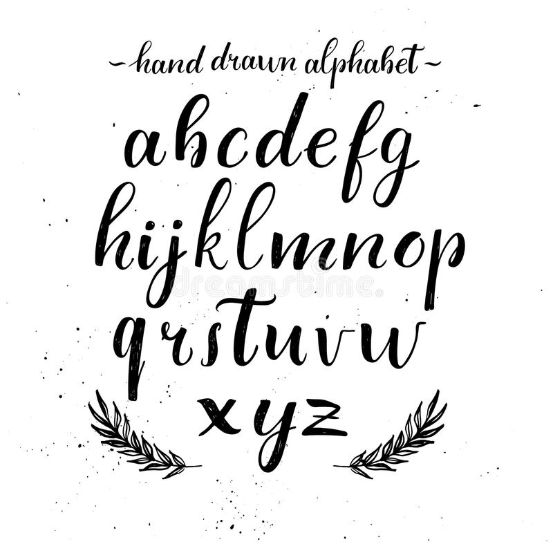 Download Hand Lettering Alphabet Modern Calligraphy Vector Stock
