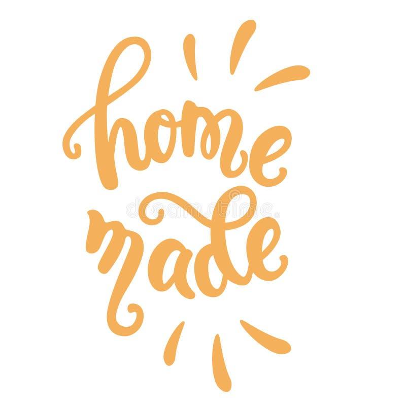 Homemade food lettering. Hand lettering Homemade food vector illustration, hand writing stock illustration