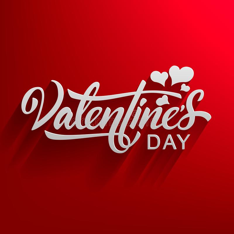 Hand lettering Valentines Day. - Vector royalty free illustration