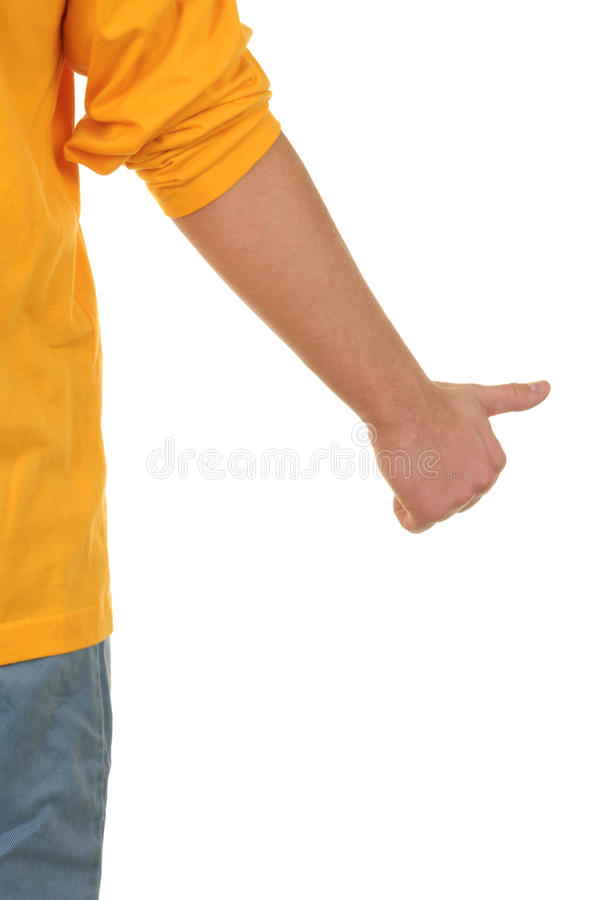 Download Hand with lifted thumb stock photo. Image of keep, show - 12818140