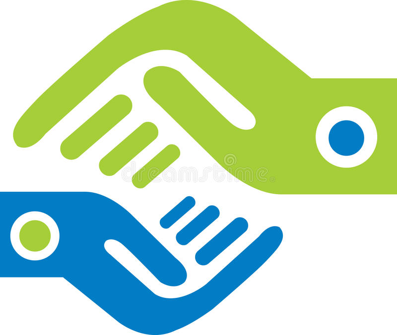 Hand logo royalty free stock images