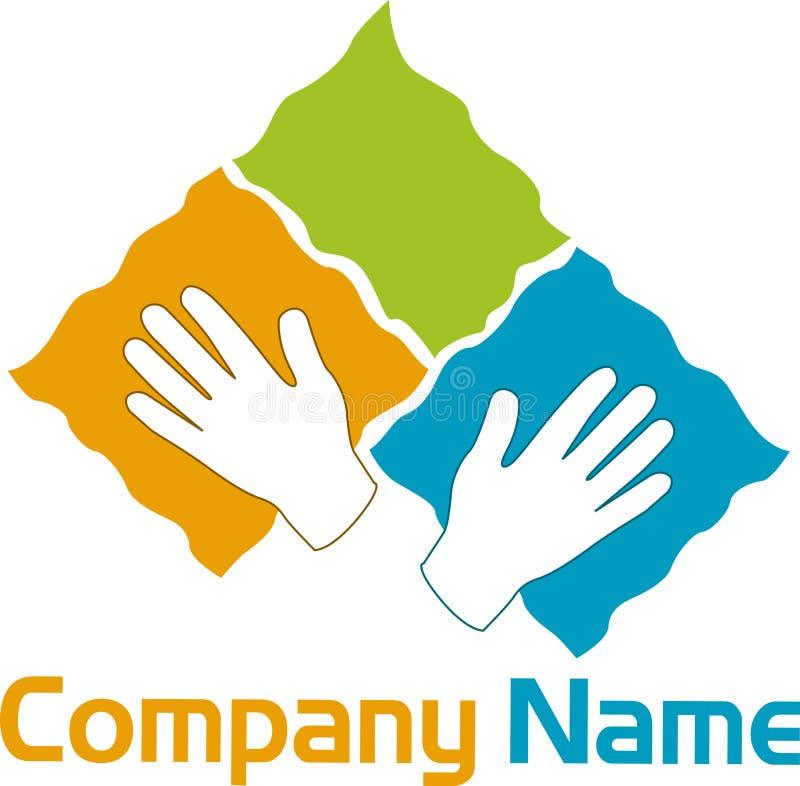 Hand logo stock illustration