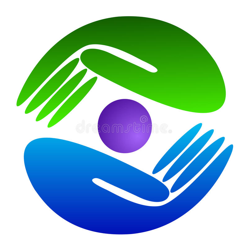 Hand logo stock illustration