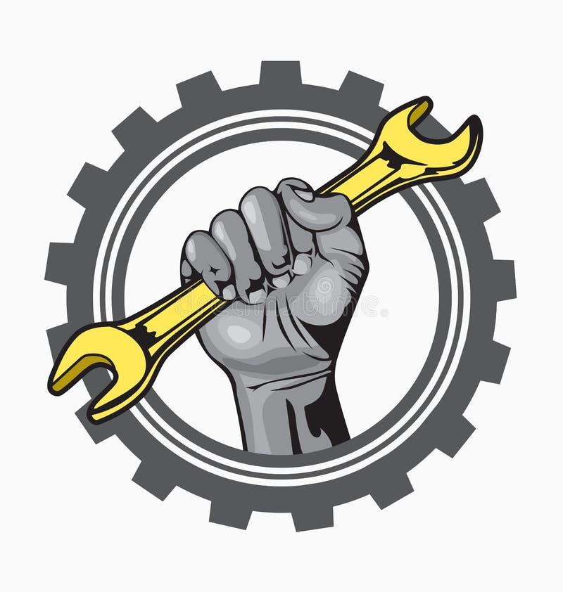 hand logo stock vector illustration of hand repair 31677007 rh dreamstime com Automotive Logo Design Auto Service Clip Art