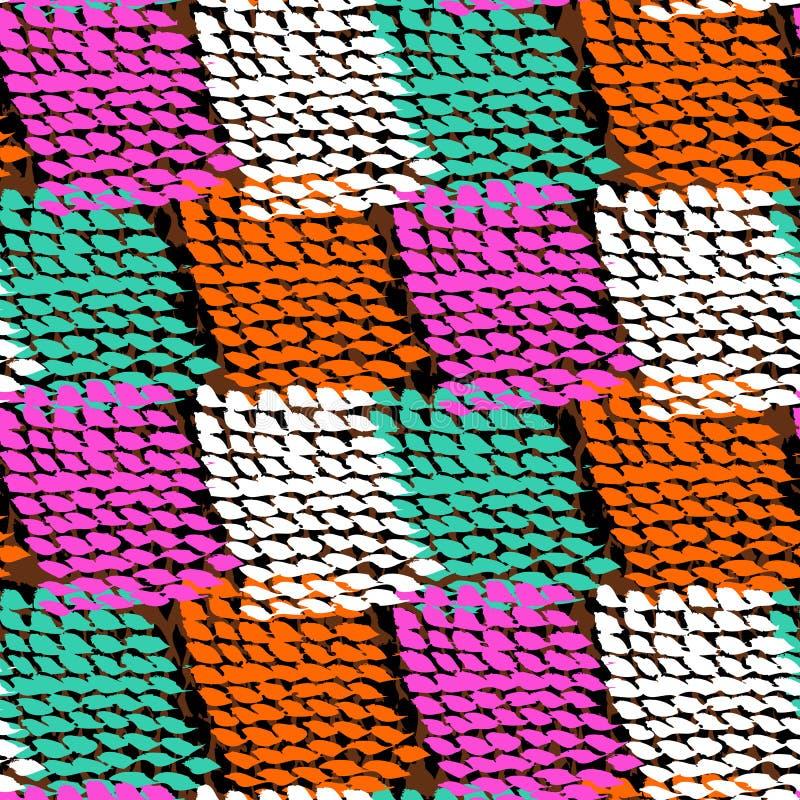 Hand målad färg blockerad vektormodell royaltyfri illustrationer
