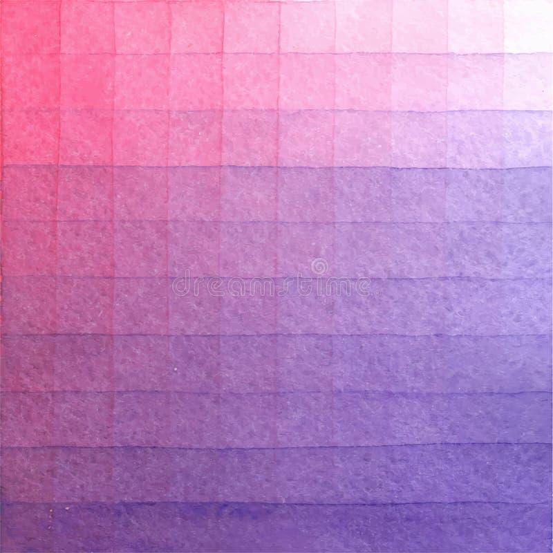 Hand-målad vattenfärgbakgrundswash Abstrakt rosa akvarelltextur Pearlescent rosa lutning stock illustrationer