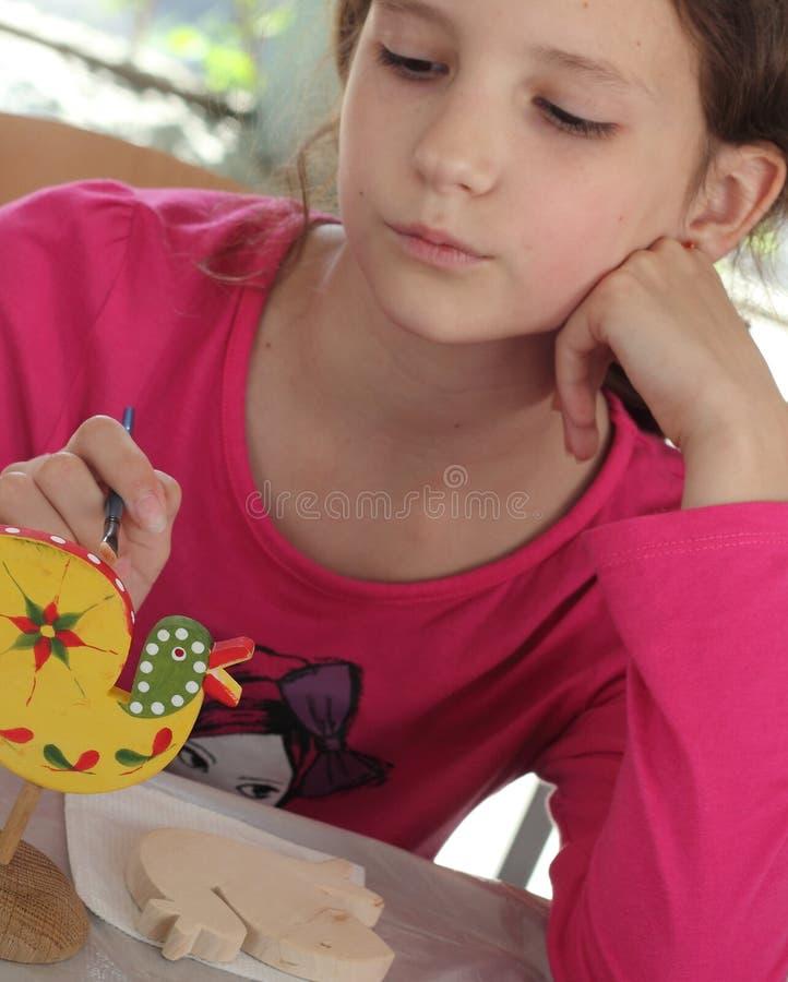 Hand-målade barns idérika leksaker royaltyfri fotografi