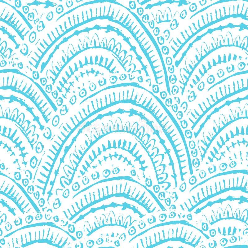 Hand målade texturerat seamless mönstrar royaltyfri illustrationer