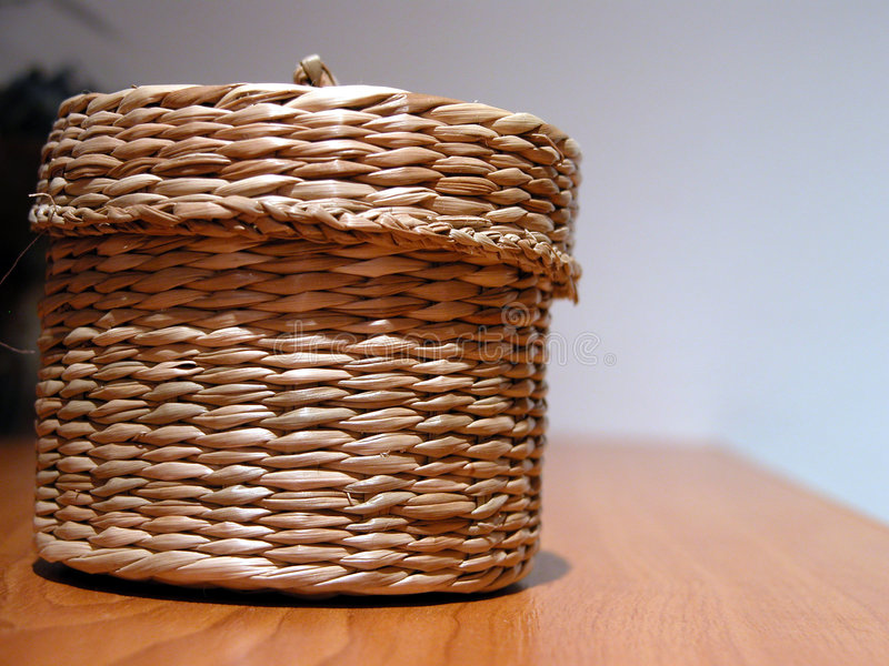 Hand-made basket stock photos