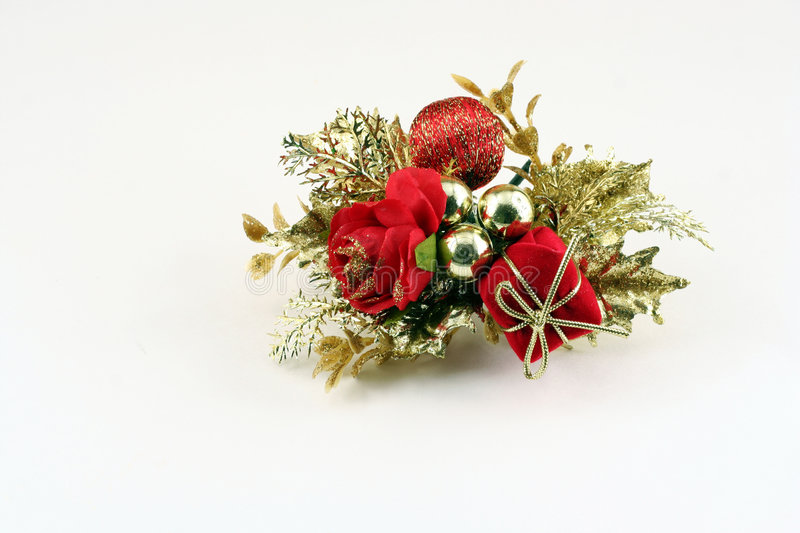Hand made christmas decoration. Isolated on white stock images