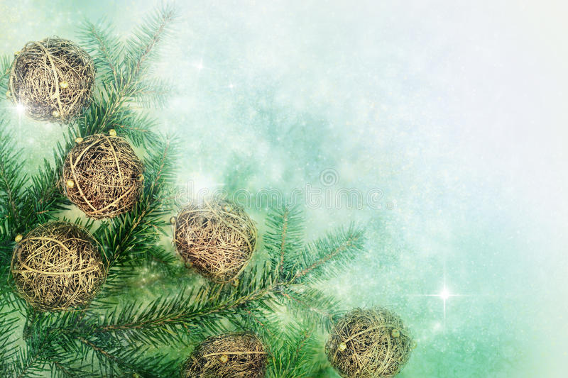 Hand made Christmas ornaments stock photography