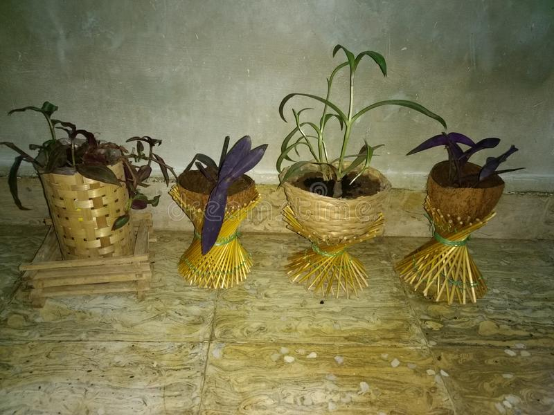Hand made craft at home waste time utilization royalty free stock photography