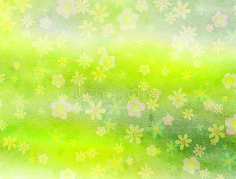 Watercolour Field of Flowers background Paper royalty free illustration