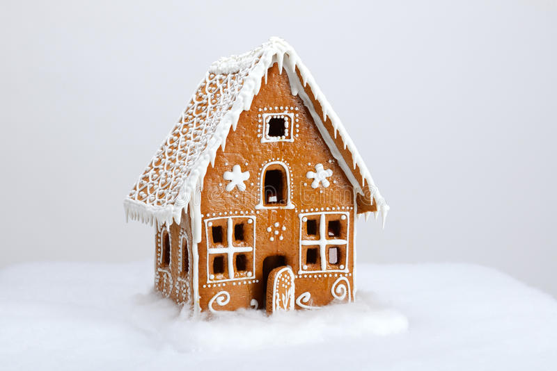 The hand-made eatable gingerbread house stock photos