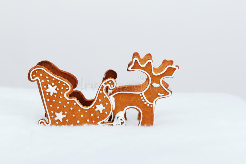 The hand-made eatable reindeer royalty free stock photo