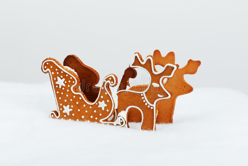 The hand-made eatable reindeer stock images