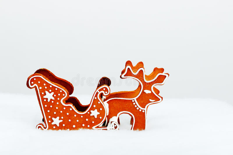 The hand-made eatable reindeer royalty free stock photography