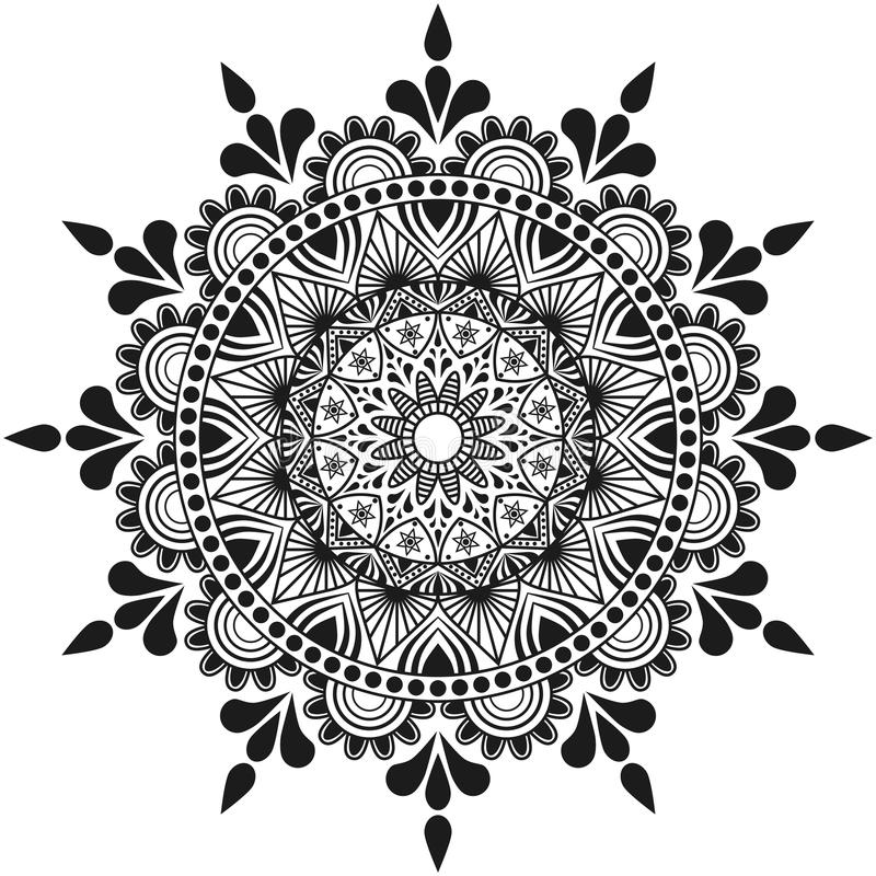 Free Hand Made Flowers Mandala, Indian And Arabian Ornament Royalty Free Stock Photography - 94054447