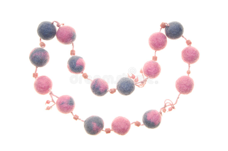 Hand-made fulling beads stock images
